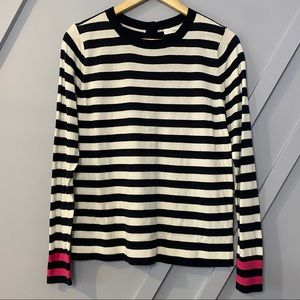 1901 button back striped pullover nautical trendy